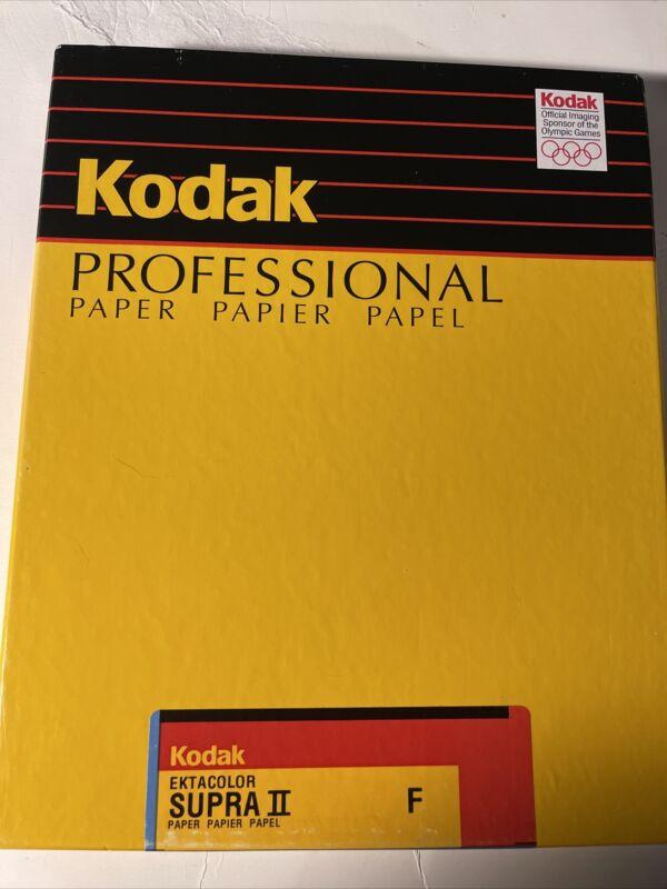 VINTAGE Kodak Ektacolor Supra II F RA 2839 Photo Paper 8x10 100 sheets SEALED