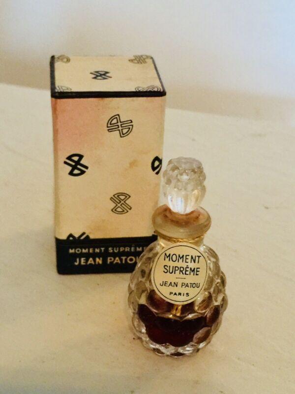 Vintage Jean Patou Moment Supreme Parfum Miniature Perfume Bottle w Original Box