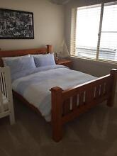 Timber double bed, with mattress and side table Little Bay Eastern Suburbs Preview