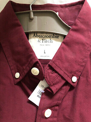 Mens Abercrombie And Fitch Shirt Size Large New With Tags But Has...
