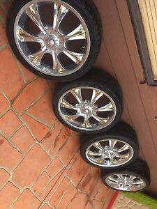 Rims and tyres two fair two worn Minchinbury Blacktown Area Preview