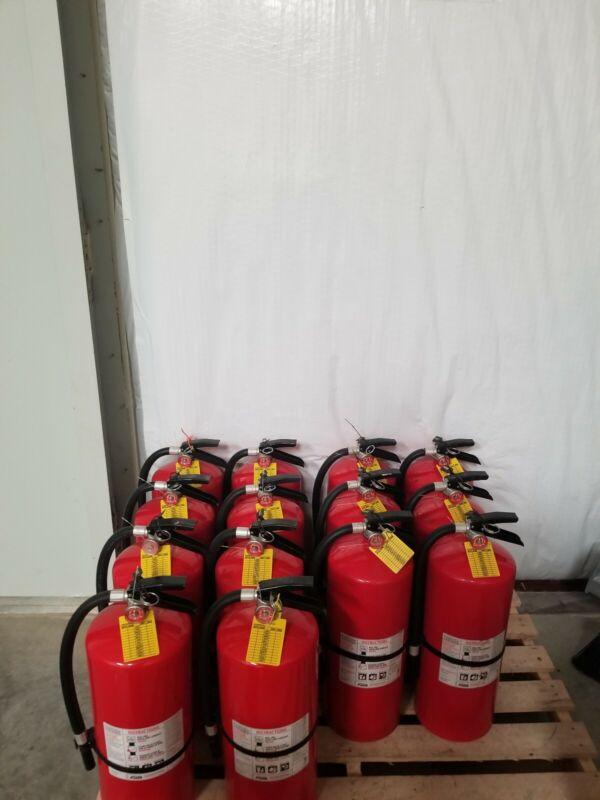 20 lb. fire extinguisher w/ ABC powder.