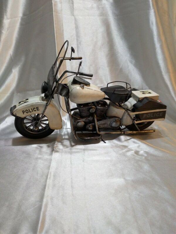 """Metal Art Harley  Davidson  motorcycle police 16"""" long"""