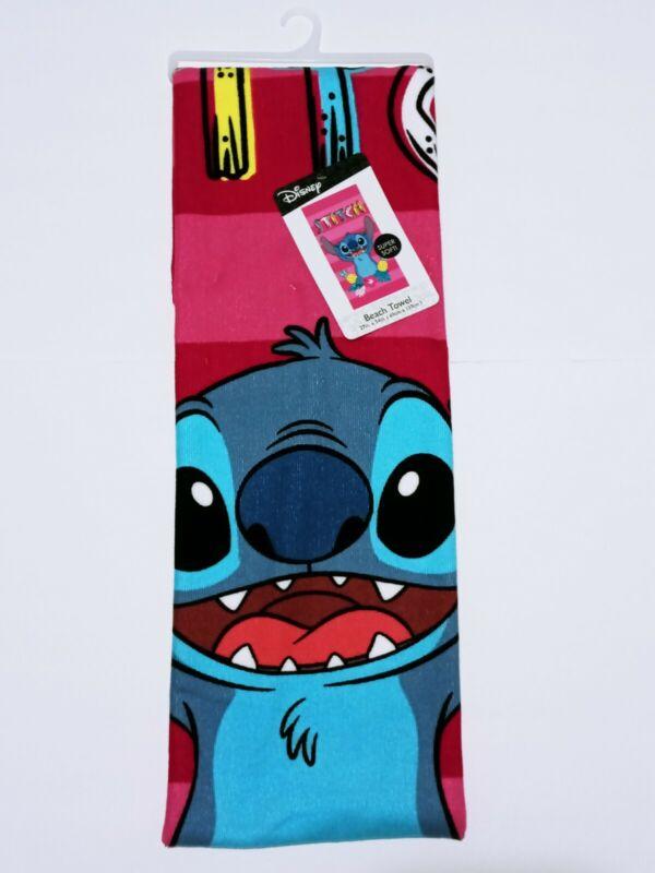 "Lilo And Stitch Tropical Disney Beach Towel Super Soft Large Towel 27"" x 54"" New"