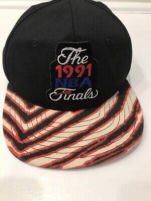 Vintage 1991 NBA Finals Chicago Bulls Snap-back Cap Hat By AJD