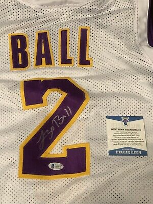 7b98d0fbd895 Lonzo Ball Autographed LA LAKERS JERSEY Beckett Witnessed Big Baller Brand
