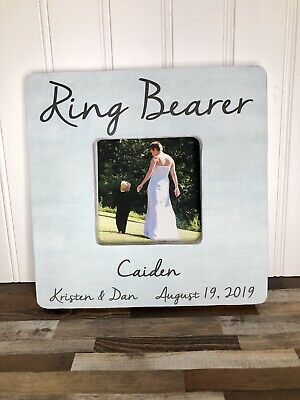 Ring Bearer Wedding Gift Personalized Picture Frame - Ring Bearer Gift