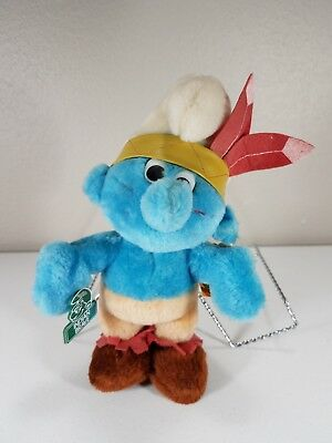Smurf Character Collection - Indian Brave - Peyo 1983