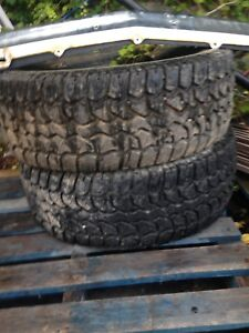 Tires and bumper