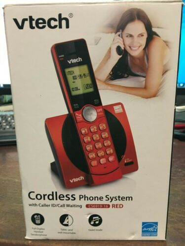 VTech CS6919-16 DECT 6.0 Cordless Phone w/ Caller ID & Speakerphone, Red