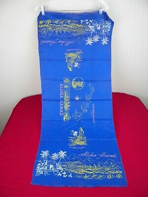 Vintage Tropical Hawaiian Table Runner Islands Hula Girl Outrigger Aloha Maui](Hawaiian Table Runner)