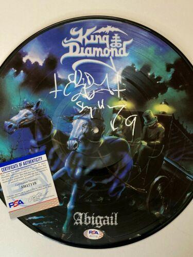 KING DIAMOND Signed Autograph ABIGAIL Vinyl PICTURE DISC RECORD Album PSA DNA