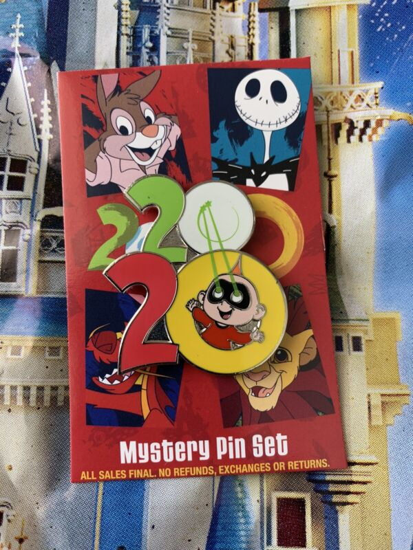 2020 Disney Parks The Incredibles Jack Jack Logo Mystery Pin NEW
