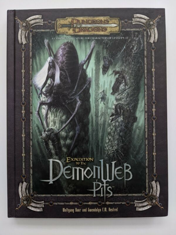 Expedition To The Demonweb Pits Hardcover - Dungeons & Dragons D&D WOTC d20