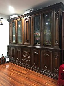 Display cabinet timber with glass Melbourne CBD Melbourne City Preview