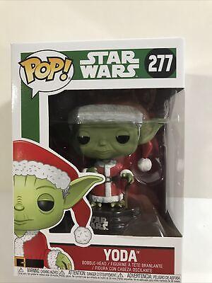 Funko Pop! Star Wars #277 (CHRISTMAS SANTA) ~YODA~ Bobble W/ Free Protector