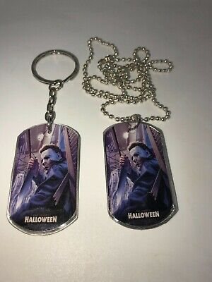 MICHAEL MYERS HALLOWEEN HORROR DOG TAG NECKLACE OR KEYCHAIN..YOU CHOOSE - Horror Or Halloween