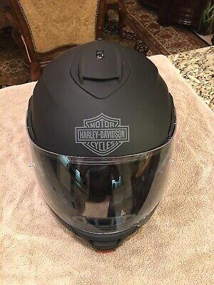 Harley Davidson Mens Capstone Sunshield Modular Helmet Matte Black