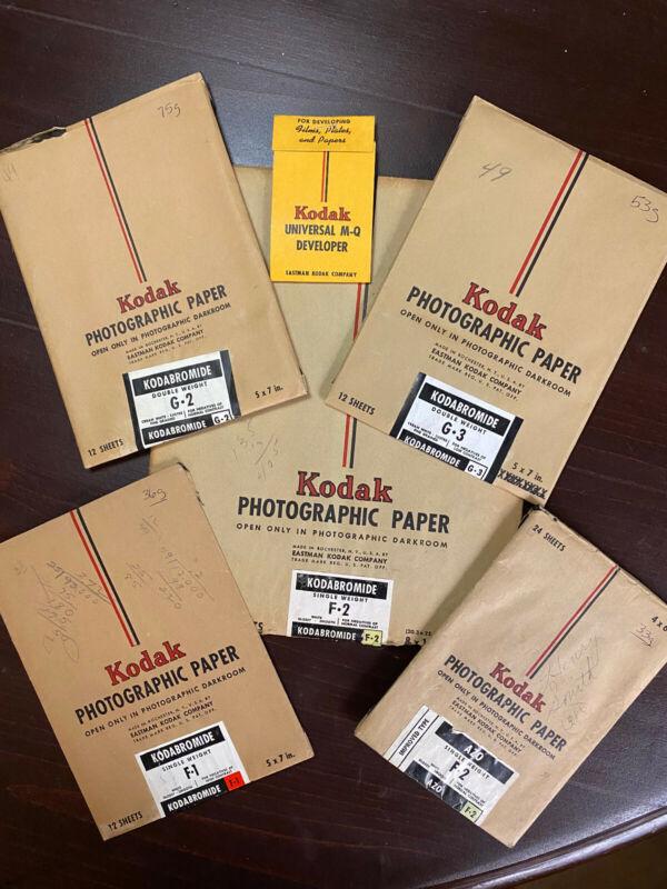 Lot of VTG KODAK PHOTOGRAPHIC PAPER F1 F2 G2 G3
