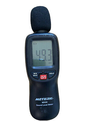 Decibel Metermeterk Digital Sound Level Meter Range 30-130dba Noise Volume M
