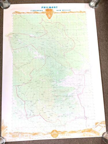 BOY SCOUTS TOPOGRAPHIC MAP PHILMONT CIMARRON NEW MEXICO 1991 VINTAGE ORIGINAL