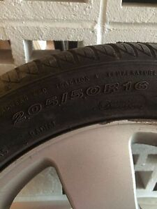 Summer tires from Ford Focus with alloy wheels