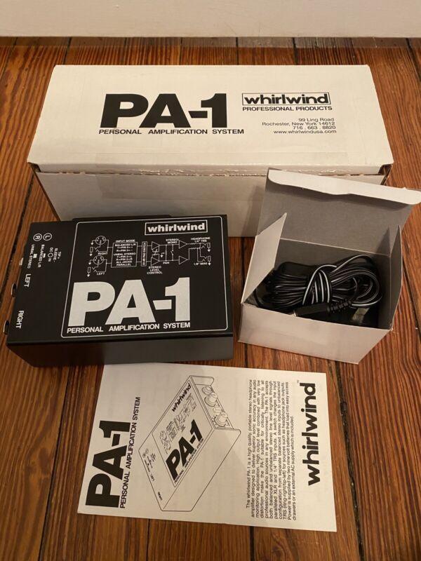 NEW OPEN BOX. Whirlwind PA-1 Portable Headphone Amplifier