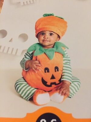 New Adorable Baby Pumpkin Halloween Costume 0-6 Months Infant](Baby Costume Halloween Pumpkin)