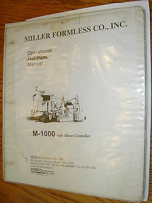 Miller M-1000 Operation Maintenance Manual Curb Gutter Concrete Paver Guide Book