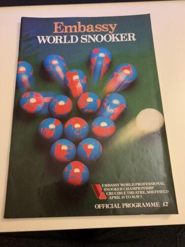 1986 Embassy World Snooker Championship Programme