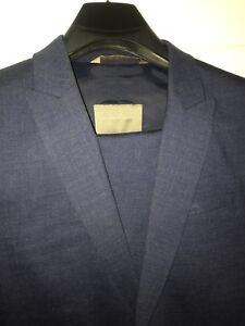 Zara Men's Blue Suit, Peak lapels, Size 42R,Size 36 Pants