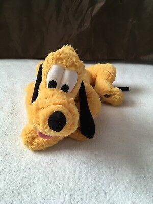"Disney Land World Parks 16"" Laying Down Pluto Dog Plush Stuffed Animal Toy Doll"