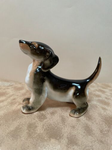 Russian Imperial Porcelain Factory Dachshund