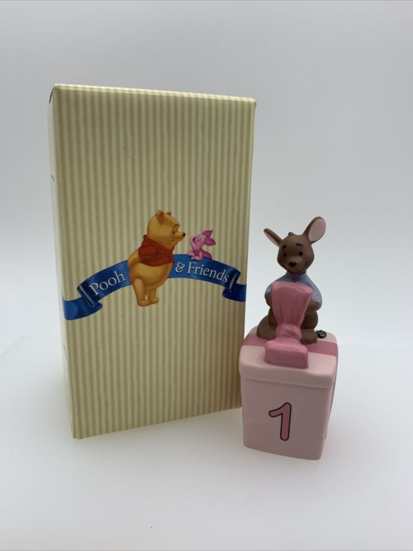 Disney Pooh & Friends Roo Figure One For Your Loving Heart 1st Birthday NEW 1 yr