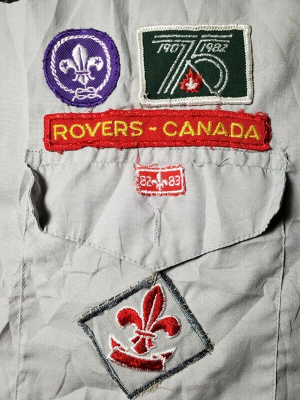 Vintage Canadian Rovers Boy Scouts Patches