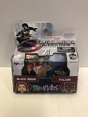 er Soldat Black Widow und Falcon Minimates Figur Set (Black Widow Und Captain America)