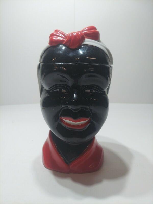 Vintage Cookie Jar Head Collectable Advertising Syrup
