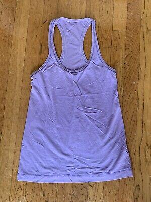 LULUMON Purple Lavender Razorback Tank Top Workout Top Size (Medium Violet)
