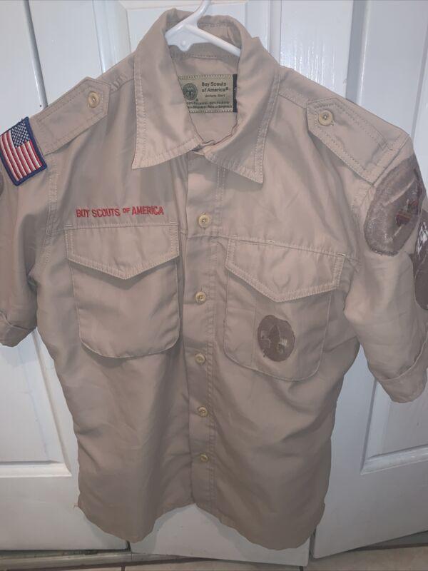 Vented Microfiber Poly Boy Scout BSA UNIFORM SHIRT Youth Medium New Style K41