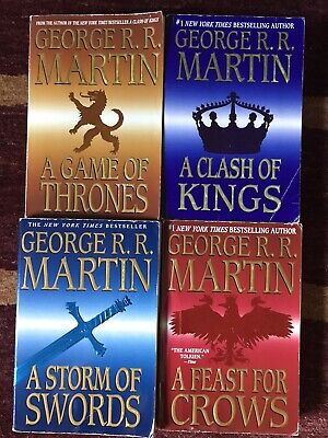 Game Of Thrones Books 1-4 Matched Trade Paperbacks Pre-HBO!