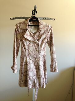Size 6-8, various brown coats of Forever New and Next brands.