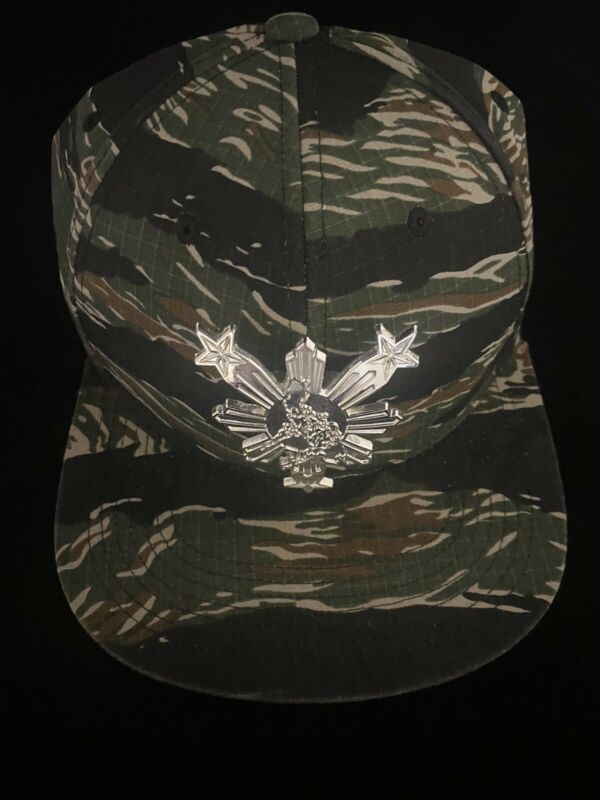 Manny Pacquiao Philippines Filipino Hat Snapback 3 Stars And sun Camo Steel New