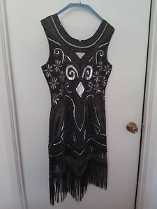 PARTY DRESS (Black and Silver)