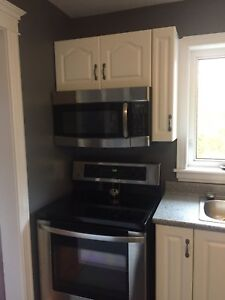 Stainless steel microwave and dishwasher