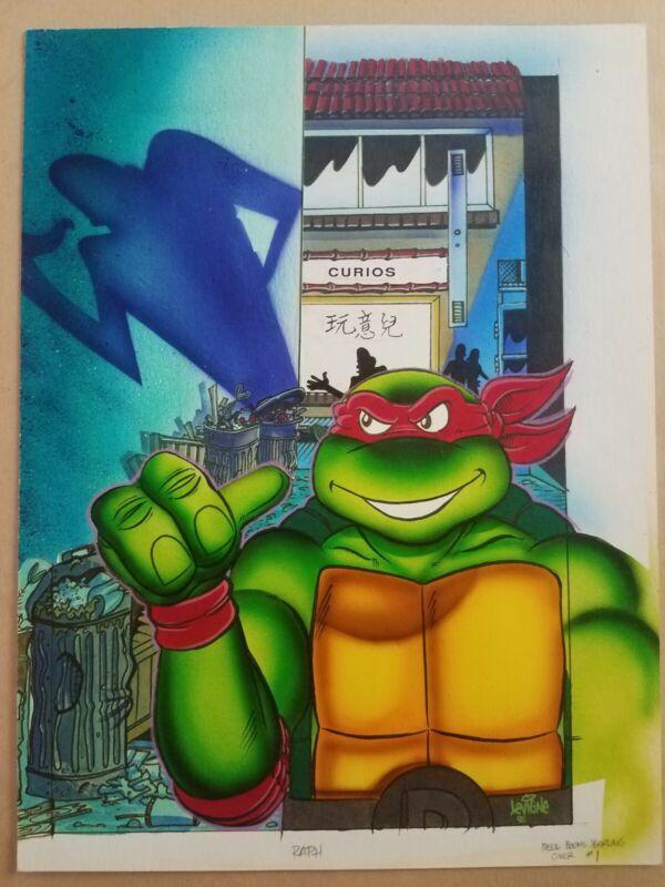 TMNT Raphael Big Trouble In Chinatown Original Cover Art By Steve Lavigne 1992