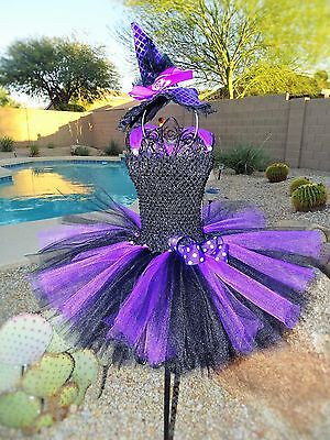 Princess Witch Tutu Dress Costume Size newborn to 5T - Newborn Witch Costume