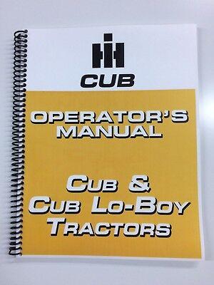 International Harvester Cub Lo Boy Operators Manual Owners Manual