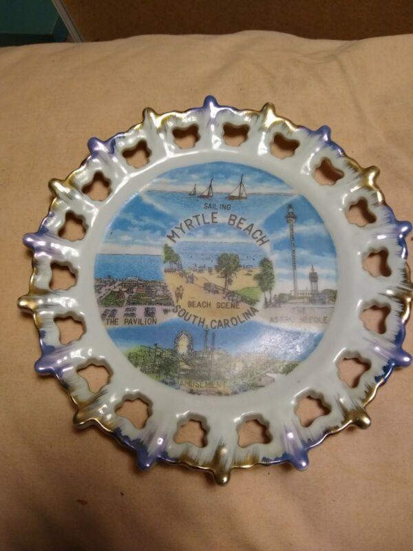 Myrtle Beach South Carolina Travel Souvenir Plate 1950s?