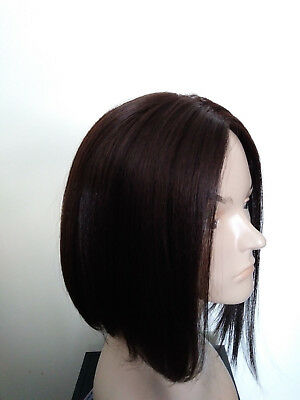 Synthetic Wig Assymetrical Bob Deep Part Yaki Texture Color  #4 (Assymetrical Bob)