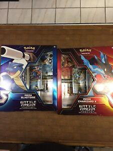 Pokemon Mega Blastoise and Mega Charizard Battle Arena Decks